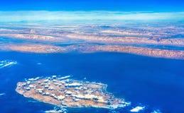 Vista aerea di Kish Island nel golfo persico, Iran Fotografie Stock Libere da Diritti