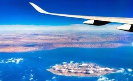 Vista aerea di Kish Island nel golfo persico, Iran Fotografia Stock