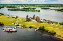 Vista aerea di Kizhi Pogost, Carelia, Russia Fotografia Stock Libera da Diritti