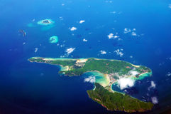 Vista aerea di Koh Phi Phi Immagini Stock Libere da Diritti