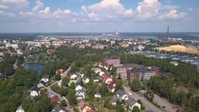 Vista aerea di Kotka stock footage