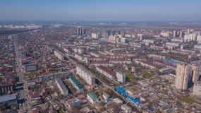 Vista aerea di Krasnodar, Federazione Russa, 2019 della citt? immagine stock