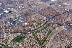 Vista aerea di Las Vegas Fotografia Stock