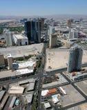 Vista aerea di Las Vegas Boulevard del nord Fotografia Stock Libera da Diritti