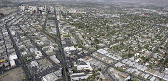 Vista aerea di Las Vegas Nevada Fotografie Stock