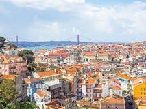 Vista aerea di Lisbona, la capitale del Portogallo Immagine Stock