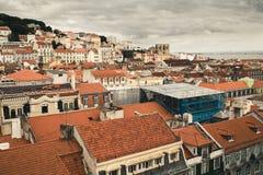 Vista aerea di Lisbona, Portogallo Fotografia Stock