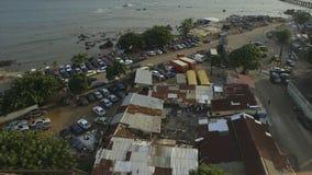 Vista aerea di litorale e delle strutture, Conacry stock footage