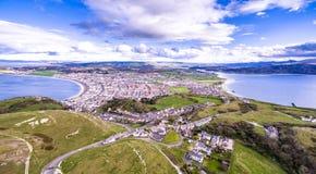 Vista aerea di Llandudno in Galles, Regno Unito Immagini Stock