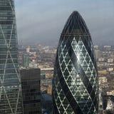 Vista aerea di Londra dalla costruzione del walkie-talkie sulla via di 20 Fenchurch Fotografia Stock Libera da Diritti