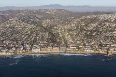 Vista aerea di lungomare di California del Laguna Beach Fotografia Stock