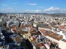 Vista aerea di Malaga Fotografia Stock