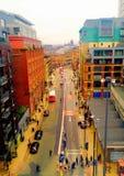 Vista aerea di Manchester Fotografia Stock
