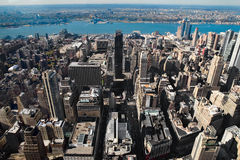 Vista aerea di Manhattan Immagine Stock