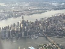 Vista aerea di Manhattan fotografie stock