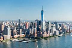 Vista aerea di Manhattan, New York fotografia stock