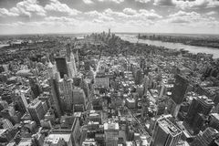 Vista aerea di Manhattan, New York, U.S.A. Fotografie Stock
