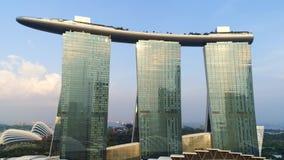 Vista aerea di Marina Bay Sands Singapore colpo Vista aerea dell'orizzonte della citt? di Singapore con Marina Bay Sands stock footage