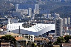 Vista aerea di Marsiglia ai distretti nordici Fotografia Stock