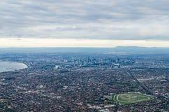 Vista aerea di Melbourne, Australia Fotografia Stock