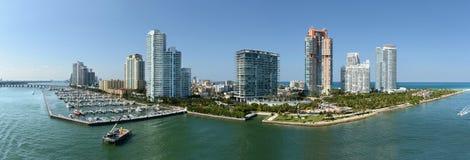 Vista aerea di Miami Beach del sud fotografia stock