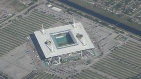 Vista aerea di Miami dello stadio del hard rock video d archivio