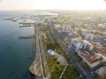 Vista aerea di Molos, Limassol, Cipro Fotografia Stock Libera da Diritti