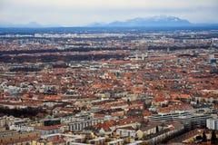 Vista aerea di Monaco di Baviera Fotografia Stock Libera da Diritti