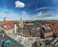 Vista aerea di Monaco di Baviera, Germania Fotografia Stock Libera da Diritti
