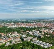 Vista aerea di Monaco di Baviera. Monaco di Baviera, Baviera, Germania Fotografia Stock