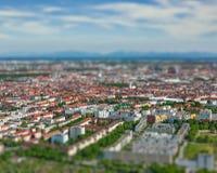 Vista aerea di Monaco di Baviera Monaco di Baviera, Baviera, Germania Fotografia Stock Libera da Diritti