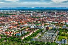 Vista aerea di Monaco di Baviera Monaco di Baviera, Baviera, Germania Immagini Stock Libere da Diritti