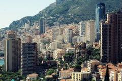 Vista aerea di Monte Carlo Monaco Immagine Stock Libera da Diritti