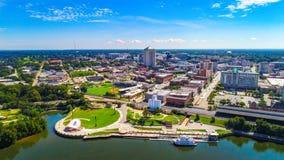 Vista aerea di Montgomery del centro, Alabama, orizzonte di U.S.A. fotografia stock libera da diritti