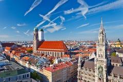Vista aerea di Munchen Fotografia Stock Libera da Diritti