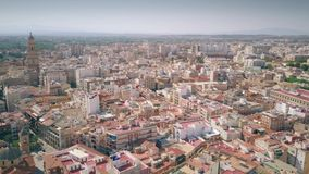 Vista aerea di Murcia che comprende cattedrale di Santa Maria, Spagna video d archivio