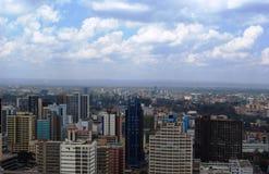 Vista aerea di Nairobi Immagine Stock