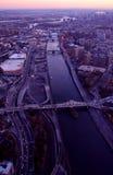 Vista aerea di New York City Fotografie Stock Libere da Diritti