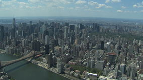 Vista aerea di New York City video d archivio