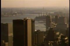 Vista aerea di New York negli anni 80 stock footage