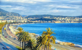 Vista aerea di Nizza, dAzur di Cote Immagini Stock Libere da Diritti