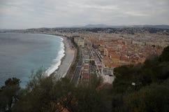 Vista aerea di Nizza, Francia Immagini Stock