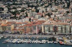 Vista aerea di Nizza, Francia Immagini Stock Libere da Diritti