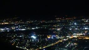 Vista aerea di notte di Roma archivi video
