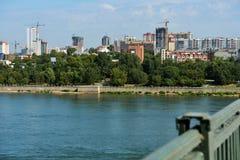 Vista aerea di Novosibirsk, Russia Fotografia Stock