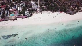 Vista aerea di Nungwi video d archivio