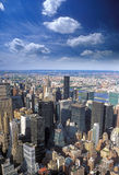Vista aerea di NYC Fotografia Stock