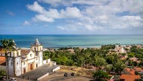 Vista aerea di Olinda e della cattedrale del Se - Pernambuco, Brasile Fotografia Stock Libera da Diritti
