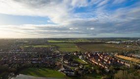 Vista aerea di orario invernale dell'alloggio Fotografia Stock