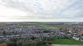 Vista aerea di orario invernale dell'alloggio Immagini Stock